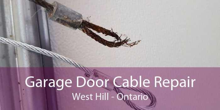 Garage Door Cable Repair West Hill - Ontario