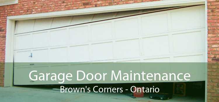 Garage Door Maintenance Brown's Corners - Ontario