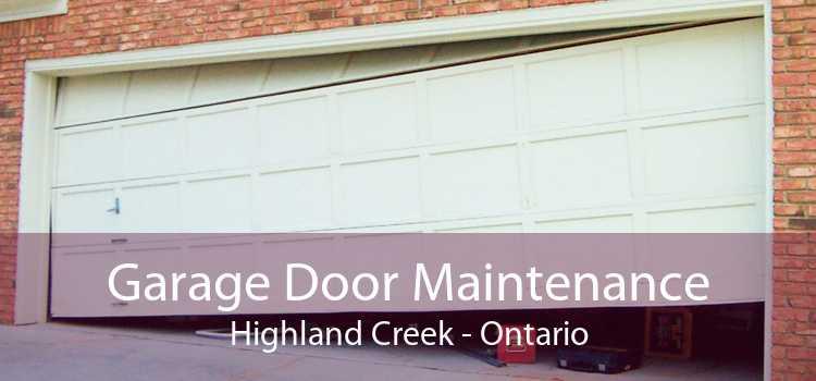 Garage Door Maintenance Highland Creek - Ontario