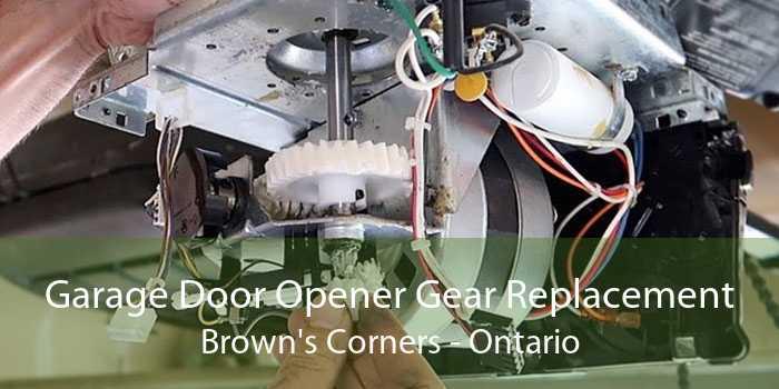 Garage Door Opener Gear Replacement Brown's Corners - Ontario