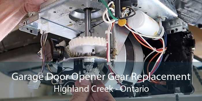 Garage Door Opener Gear Replacement Highland Creek - Ontario