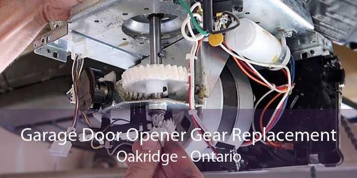 Garage Door Opener Gear Replacement Oakridge - Ontario