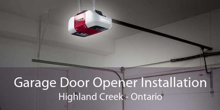 Garage Door Opener Installation Highland Creek - Ontario