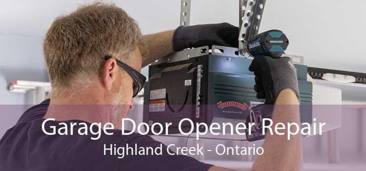 Garage Door Opener Repair Highland Creek - Ontario