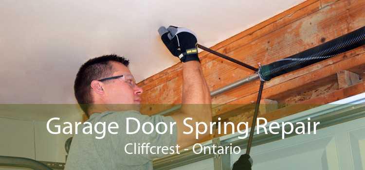 Garage Door Spring Repair Cliffcrest - Ontario