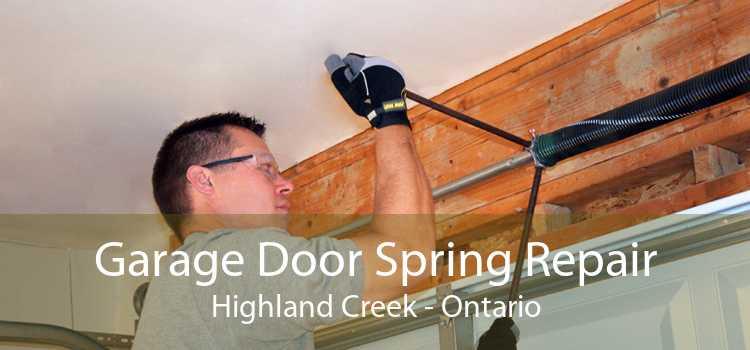 Garage Door Spring Repair Highland Creek - Ontario