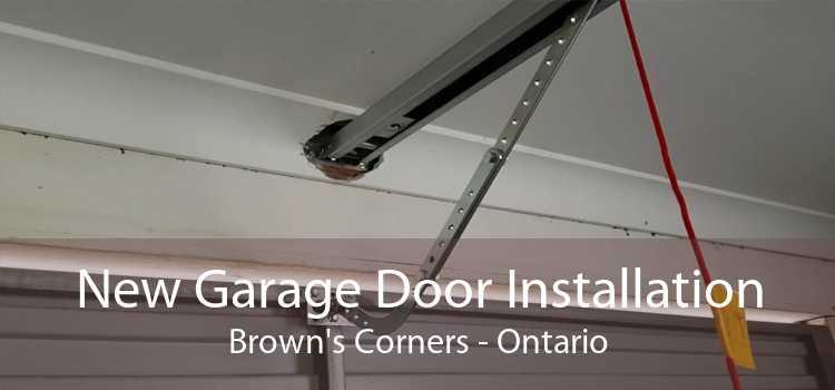 New Garage Door Installation Brown's Corners - Ontario