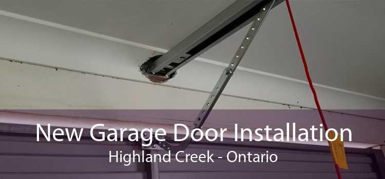 New Garage Door Installation Highland Creek - Ontario