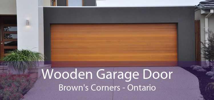 Wooden Garage Door Brown's Corners - Ontario