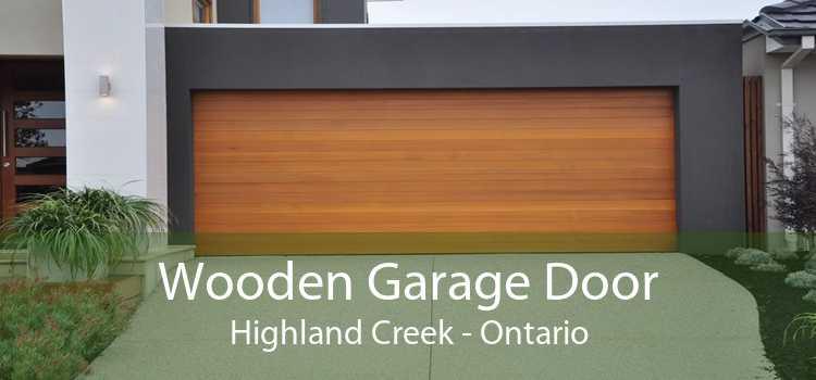 Wooden Garage Door Highland Creek - Ontario