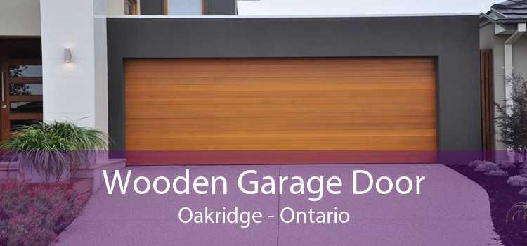 Wooden Garage Door Oakridge - Ontario