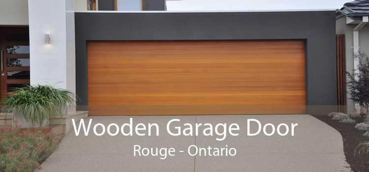 Wooden Garage Door Rouge - Ontario