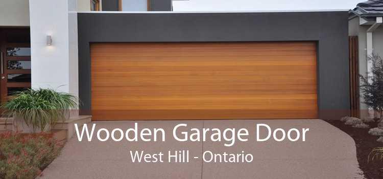 Wooden Garage Door West Hill - Ontario